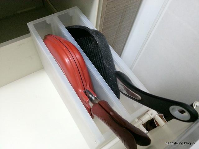 無印良品 PP 鍋 立てる収納 引き出しの中 キッチン アイディア