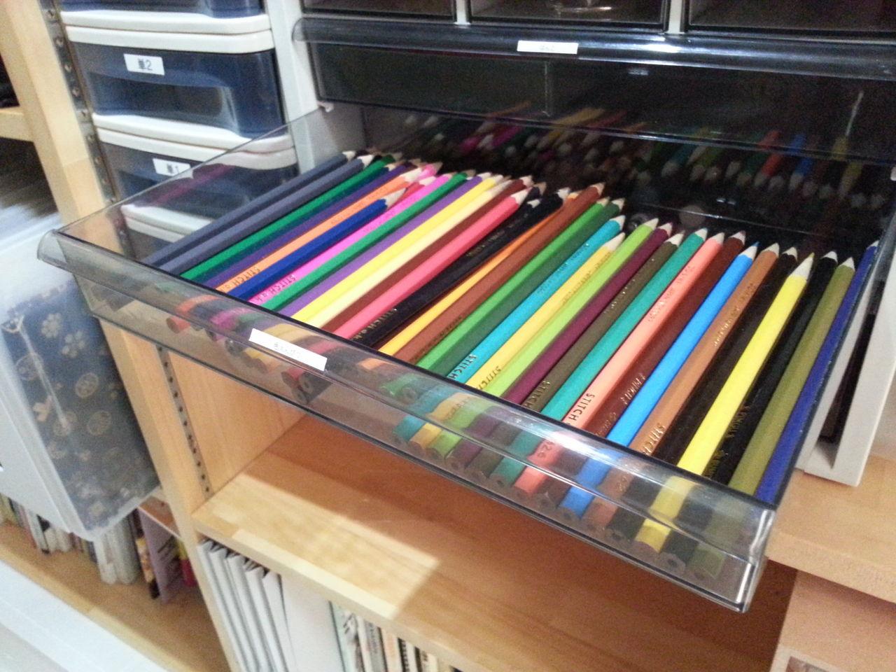 色鉛筆 収納 減らしてみた