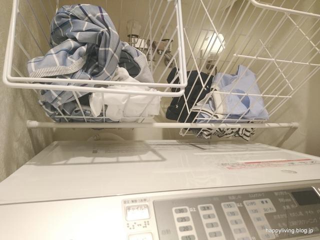 洗濯カゴ つっぱり棒 収納 邪魔 (3)