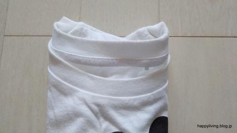 Tシャツ コンパクトに畳む (4)