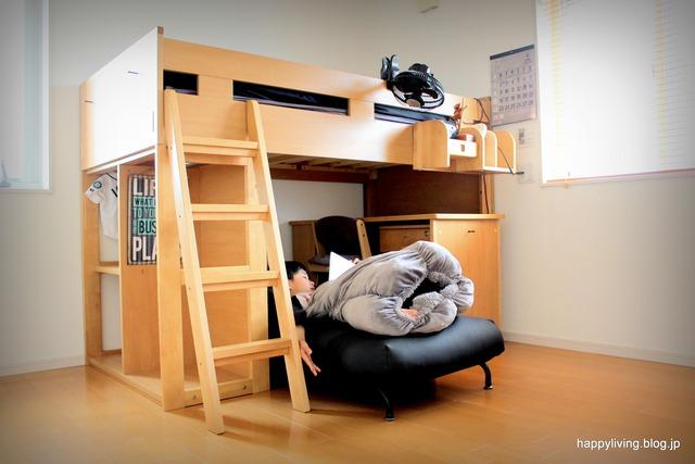 子供部屋 男の子 ソファ 掃除がラク ベッド 机 (3)
