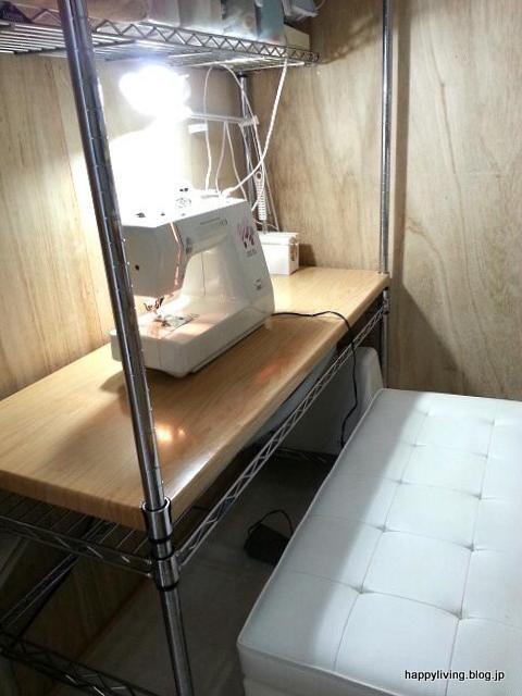 古いミシン 作業台 納戸