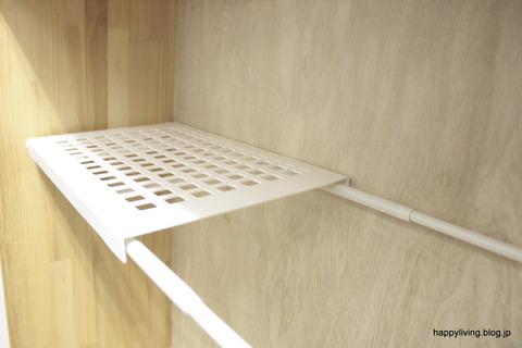 ダイソー つっぱり棒用 棚 玄関収納 100均 (11)