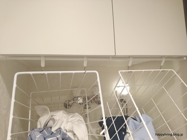 洗濯カゴ つっぱり棒 収納 邪魔 (2)