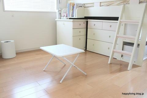 子供部屋 女の子 折りたたみ ローテーブル