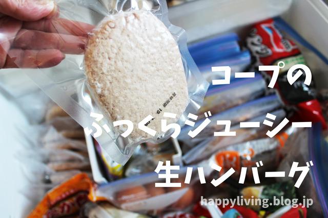 常備食材 コープふっくらジューシー生ハンバーグ 冷凍庫収納 (10)