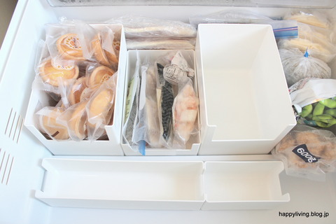 冷凍庫 収納 カインズ スキット Skitto ケース 仕切り (5)
