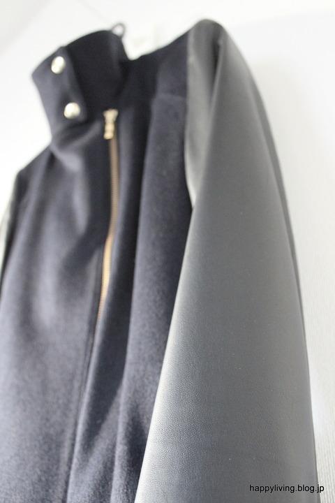 袖 革 コート