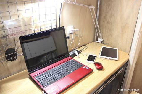 コンセント USB 納戸 パソコンデスク (2)