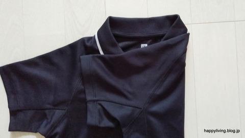 ポロシャツ コンパクトに畳む (3)