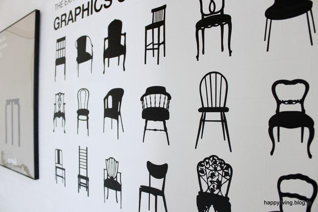玄関インテリア ウォールステッカー 椅子 ポスター (1)