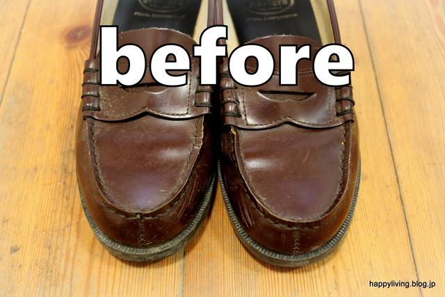 ダイソー 靴磨きグッズ 100均 ローファー (4)
