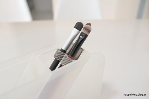 化粧品 収納アイディア 無印良品 ペンホルダー  (9)