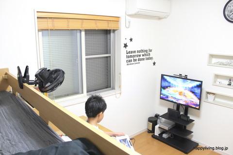 扇風機 クリップ 子供部屋 (2)