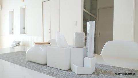 ホワイトインテリア ideacoティッシュケース 半分 (1)