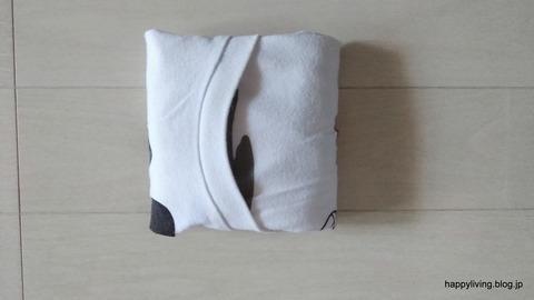 Tシャツ コンパクトに畳む (1)
