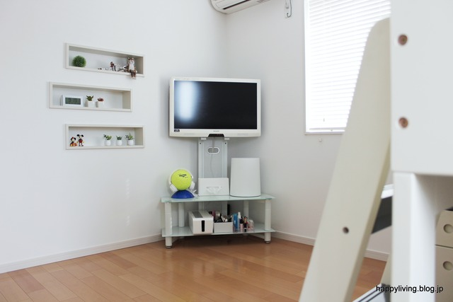 女の子 子供部屋 高校生 ニッチ シンプル モノトーン (2)