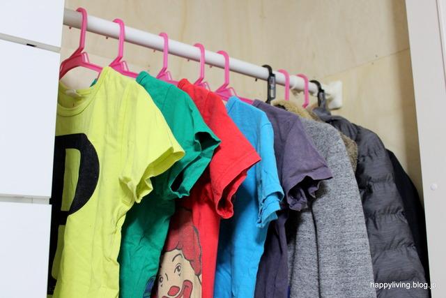 子供部屋 クローゼット 掛ける収納 洋服 (10)