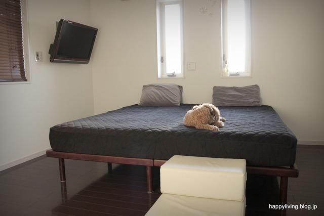 パッド一体型 ボックスシーツ タオル地 寝室 犬 (4)