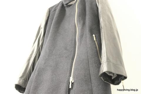 袖が革のコート 自宅で洗濯 (8)