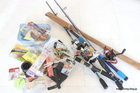 玄関収納 釣り道具 捨てる罪悪感 (1)