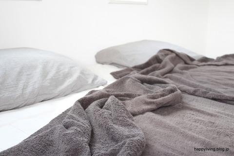 無印良品 タオルケット 寝室 (2)