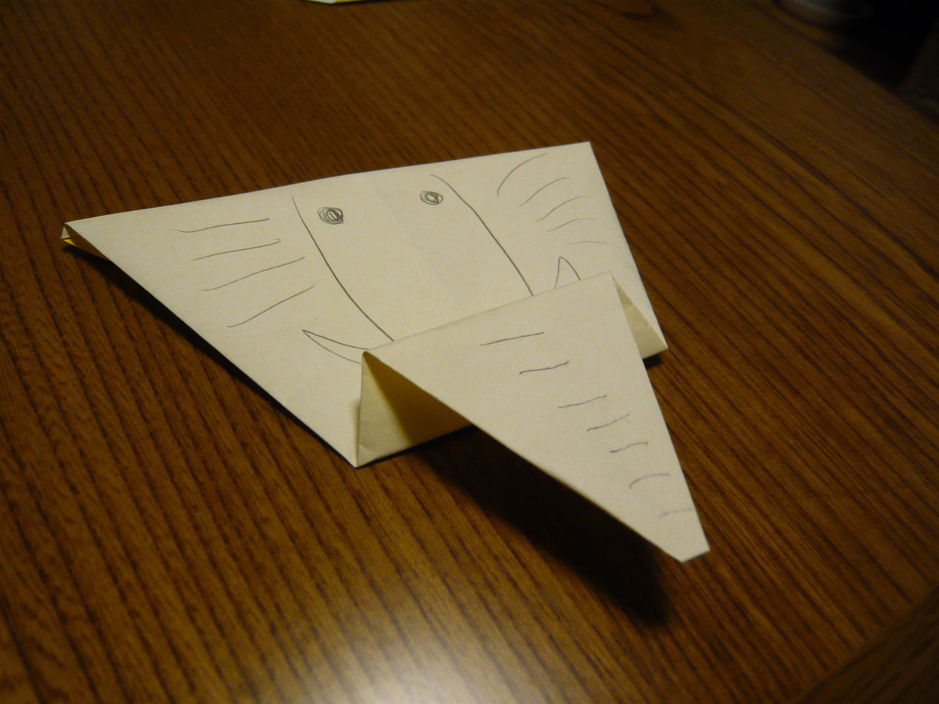 すべての折り紙 折り紙 ライオンの折り方 : ロンパース日記 : 折り紙工作