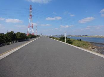 江戸川放水路堤防