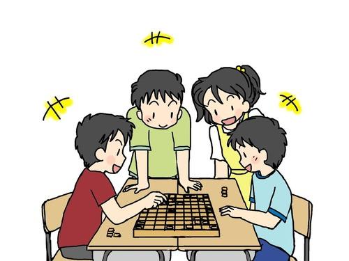 将棋をする人々