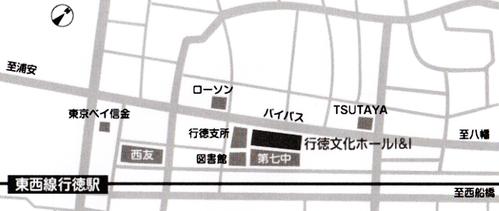 行徳文化ホール地図白黒