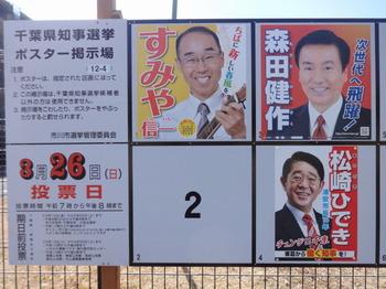 千葉県知事選ポスター