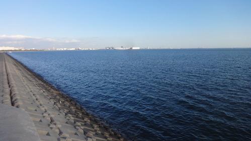 行徳港放水路河口付近