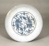 青花麒麟文盤明時代・成化(1465-1487)在銘