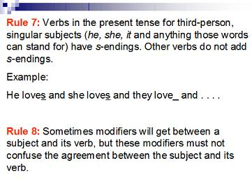 SUBJECT-VERB AGREEMENT day7
