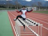 菅平合宿でトレーニングする岸川選手
