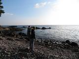 初めての海原を見つめる姫さま。