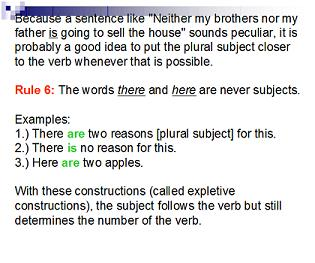 SUBJECT-VERB AGREEMENT day6