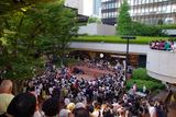 ギリヤーク尼ヶ崎、新宿三井ビル55広場公演2017