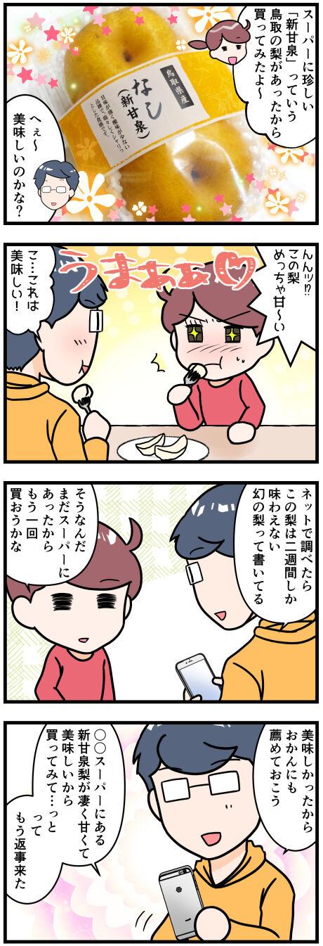 鳥取県の新甘泉梨とおかん前半改
