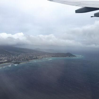オアフ島離陸
