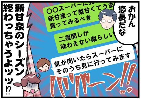 鳥取県の新甘泉梨とおかん後半
