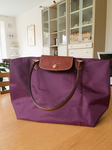 ロンシャン バッグ 紫
