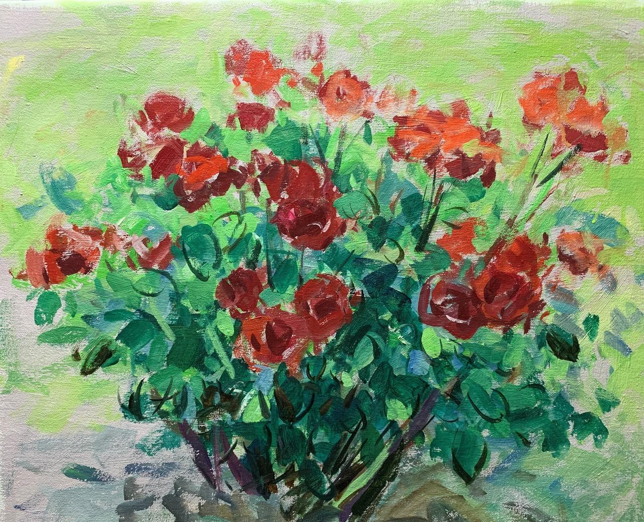 赤いバラ F10