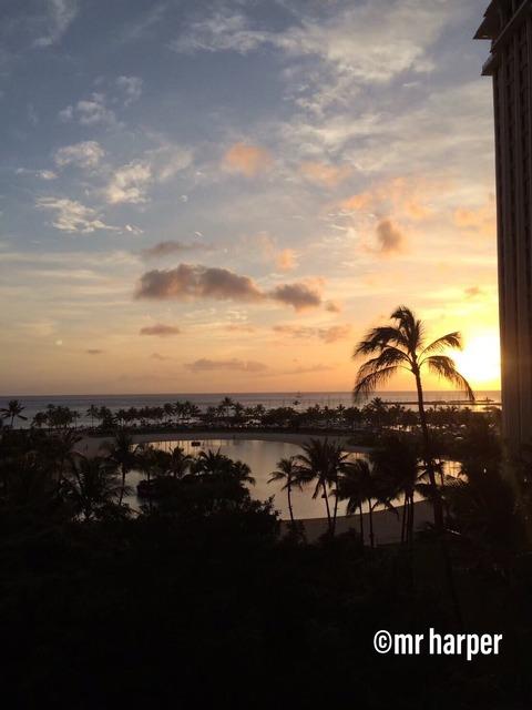 ヒルトンラグーン 夕陽