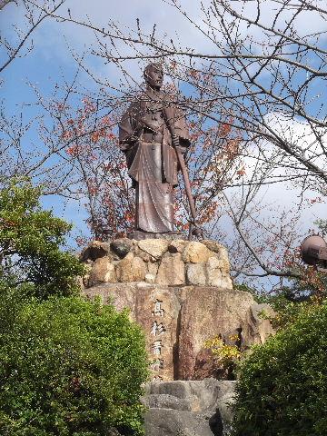 1012高杉晋作の備前焼の陶像
