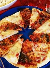 ピザ / マルゲリータ、ベーコン