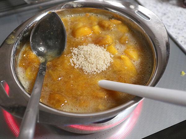 柿とレモンのジャム 作り方 レシピ 画像