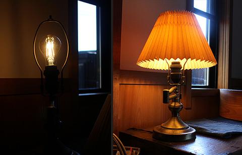 LED電球 電球色よりレトロなキャンドル色 アイリス