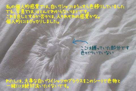 【洗濯物の色移り防止シート】 色移った 体験談 2