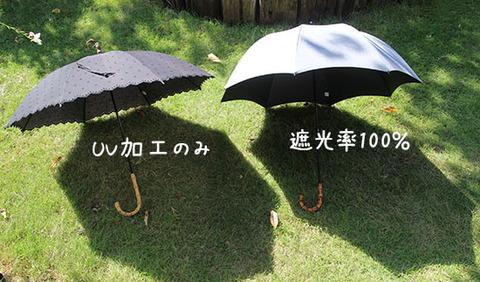 日傘 UVカット 効果    遮光率100 選び方 3